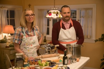 BS_01803_R Lisa Kudrow stars as Charmaine and Will Forte as Doug in Olivia Wilde's directorial debut, BOOKSMART, an Annapurna Pictures release. Credit: Francois Duhamel / Annapurna Pictures